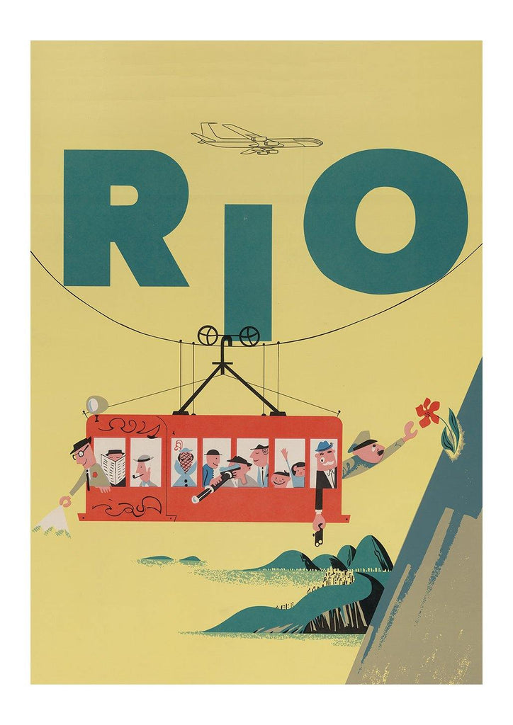 RIO TRAVEL POSTER: Vintage Brazil Airline Advert Print