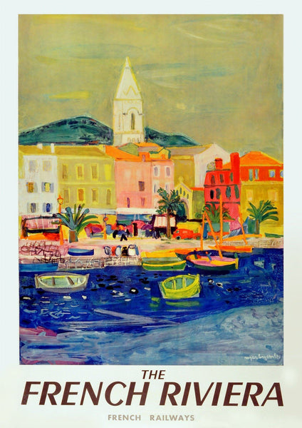 RIVIERA TRAVEL POSTER: Vintage French Railway Art Print - The Print Arcade