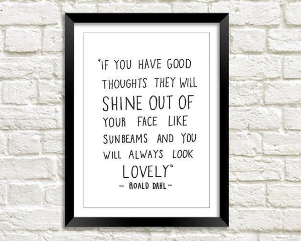 LOVELY QUOTATION PRINT: Roald Dahl Twits Poetry Art