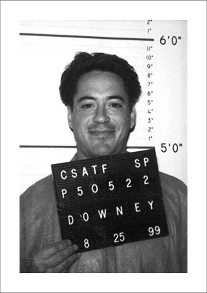 CELEBRITY MUGSHOT: Robert Downey Junior Print