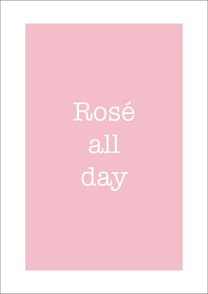 ROSÉ ALL DAY PRINT: Wine Drinker Poster Art