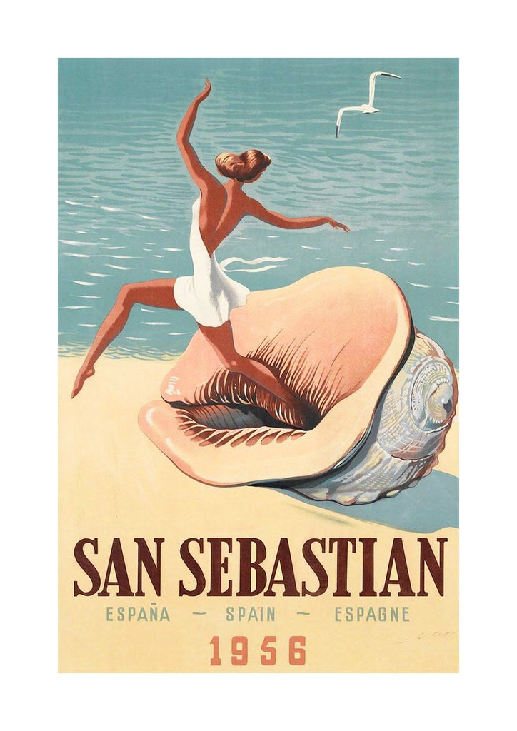 SAN SEBASTIAN POSTER: Vintage Basque Advert Print - The Print Arcade
