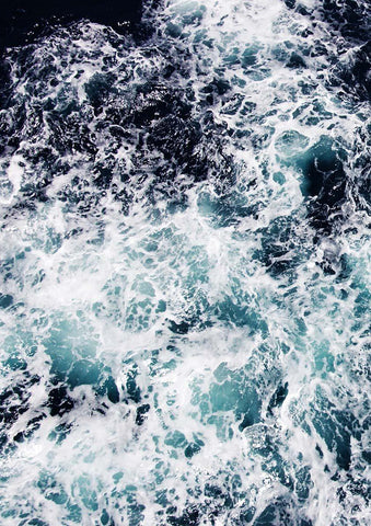 SEA FOAM PRINT: Ocean Waves Art Poster