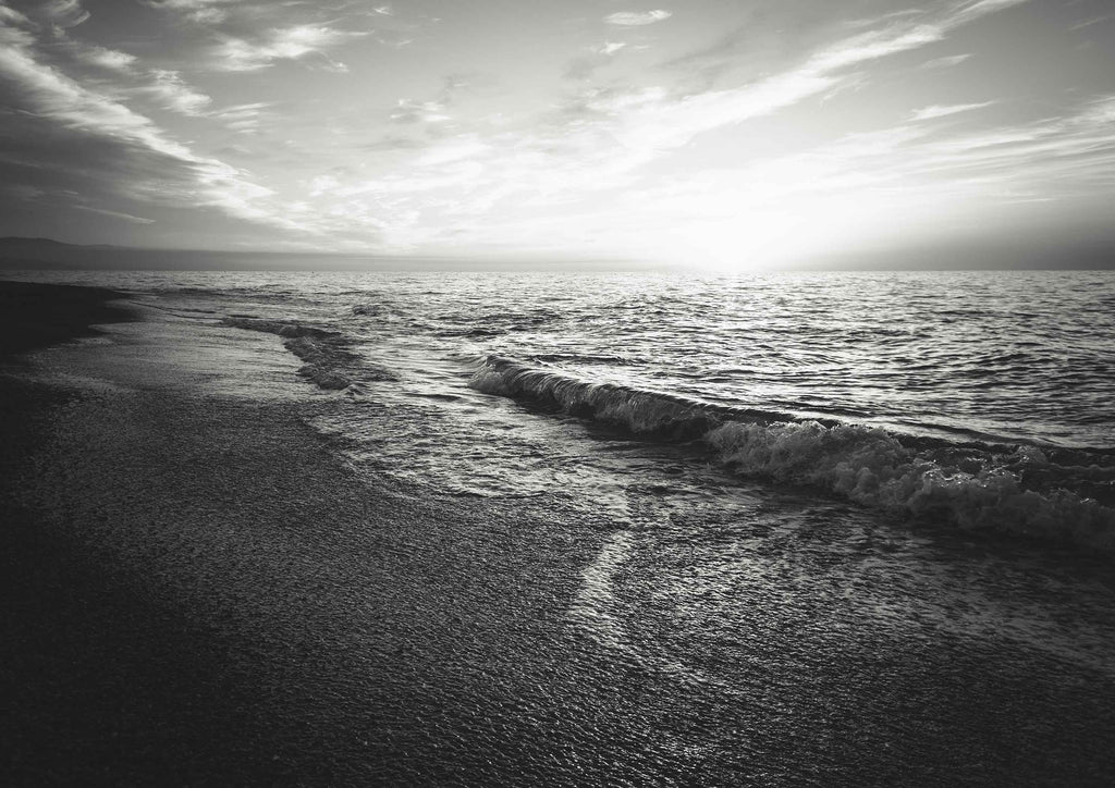 SEASIDE: Black and White Photography Print - The Print Arcade