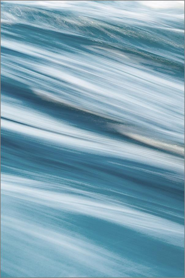 BLUE WAVE PRINT: Abstract Ocean Photo Art