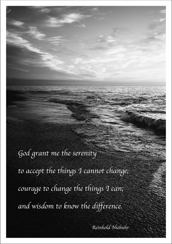 SERENITY PRAYER PRINT: 'God Grant Me' Poetry Art