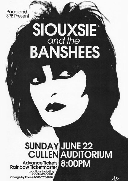 SIOUXSIE & BANSHEES POSTER: Vintage Concert Poster Reproduction - The Print Arcade