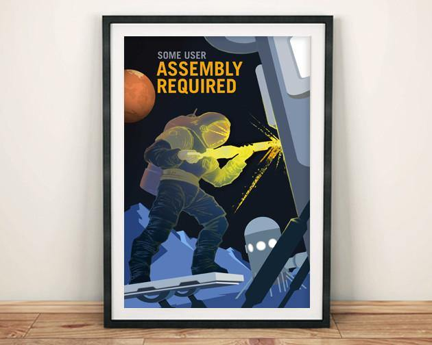 ASSEMBLY REQUIRED: NASA Space Explorers Poster - The Print Arcade