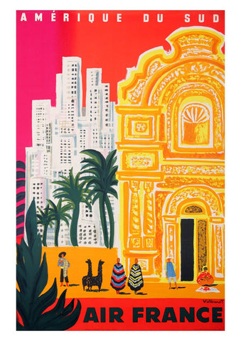 SOUTH AMERICA TRAVEL POSTER: Vintage Tourism Art Print - The Print Arcade