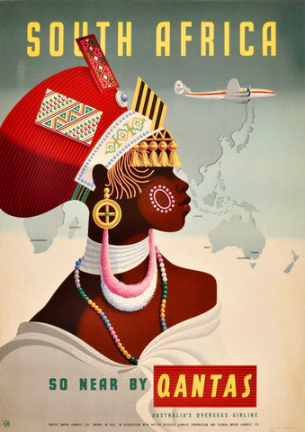 SOUTH AFRICA POSTER: Vintage African Travel Print