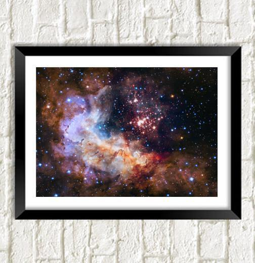 HUBBLE SPACE PHOTO: Westerlund Galaxy Art Poster - The Print Arcade