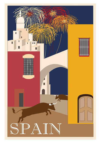 SPAIN TRAVEL POSTER: Spanish Illustration Print