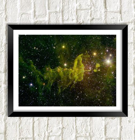 NASA SPACE POSTER: Spider Nebula Art Print
