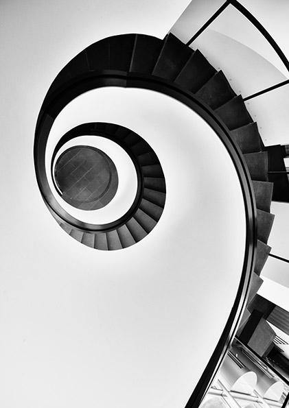 SPIRAL STAIRCASE PRINT: Abstract Photo Art