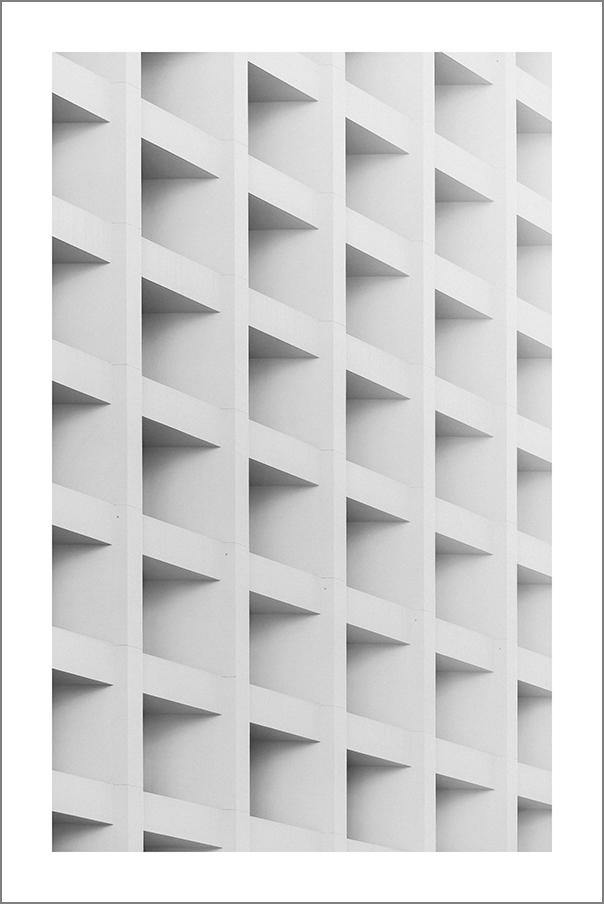 CUBIC ARCHITECTURE PRINT: Abstract Concrete Photo Art
