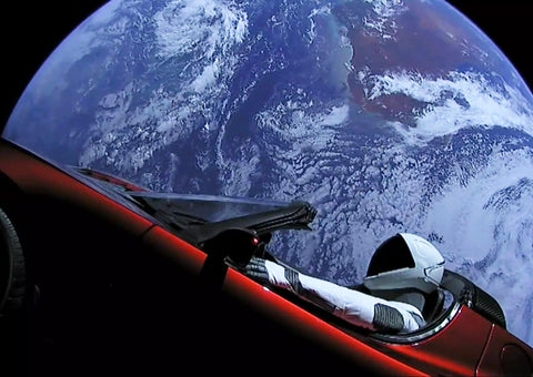 SPACEX STARMAN POSTER: Tesla Roadster Photo Print - The Print Arcade