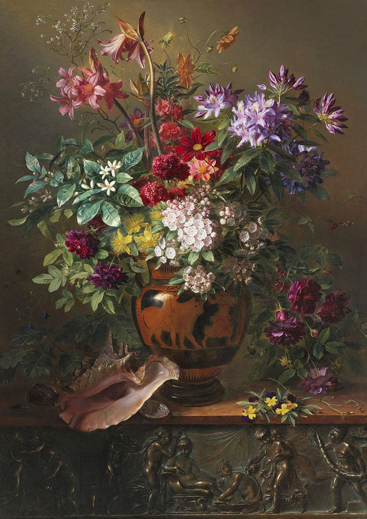 JACOBUS VAN OS ART PRINT: Still Life With Flowers in a Greek Vase