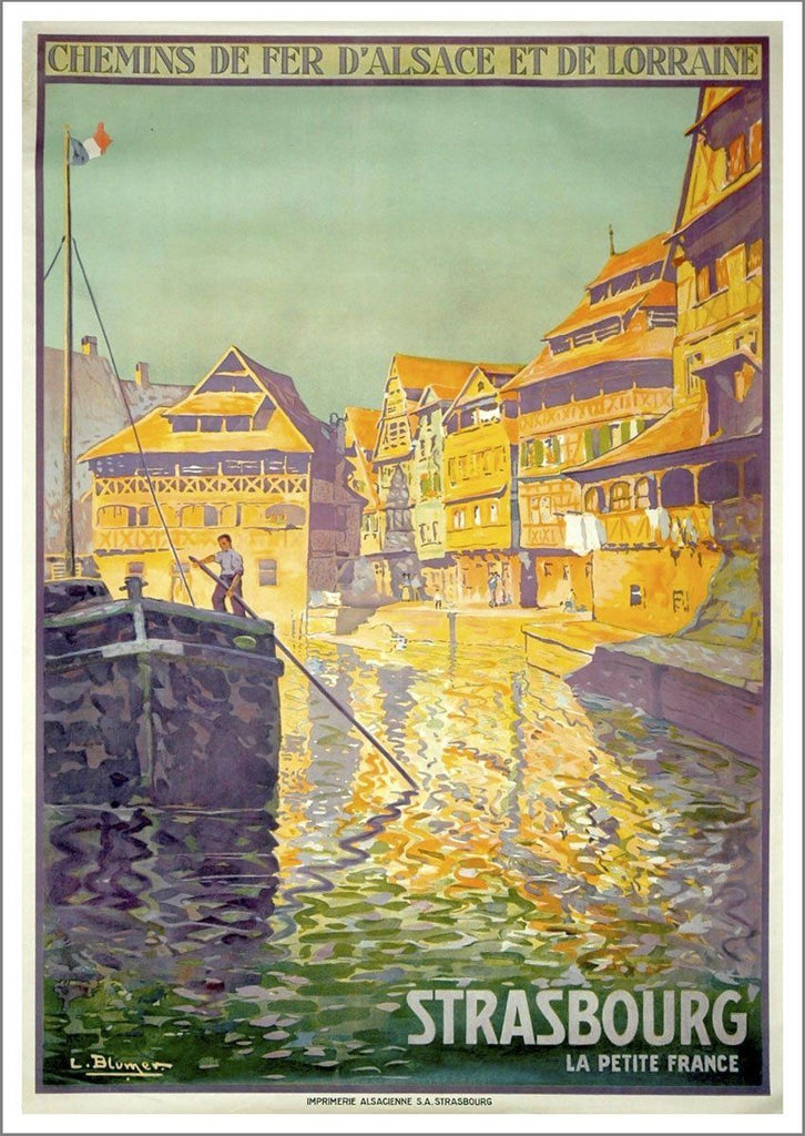 STRASBOURG TRAVEL POSTER: Vintage Swiss Advert Print - The Print Arcade