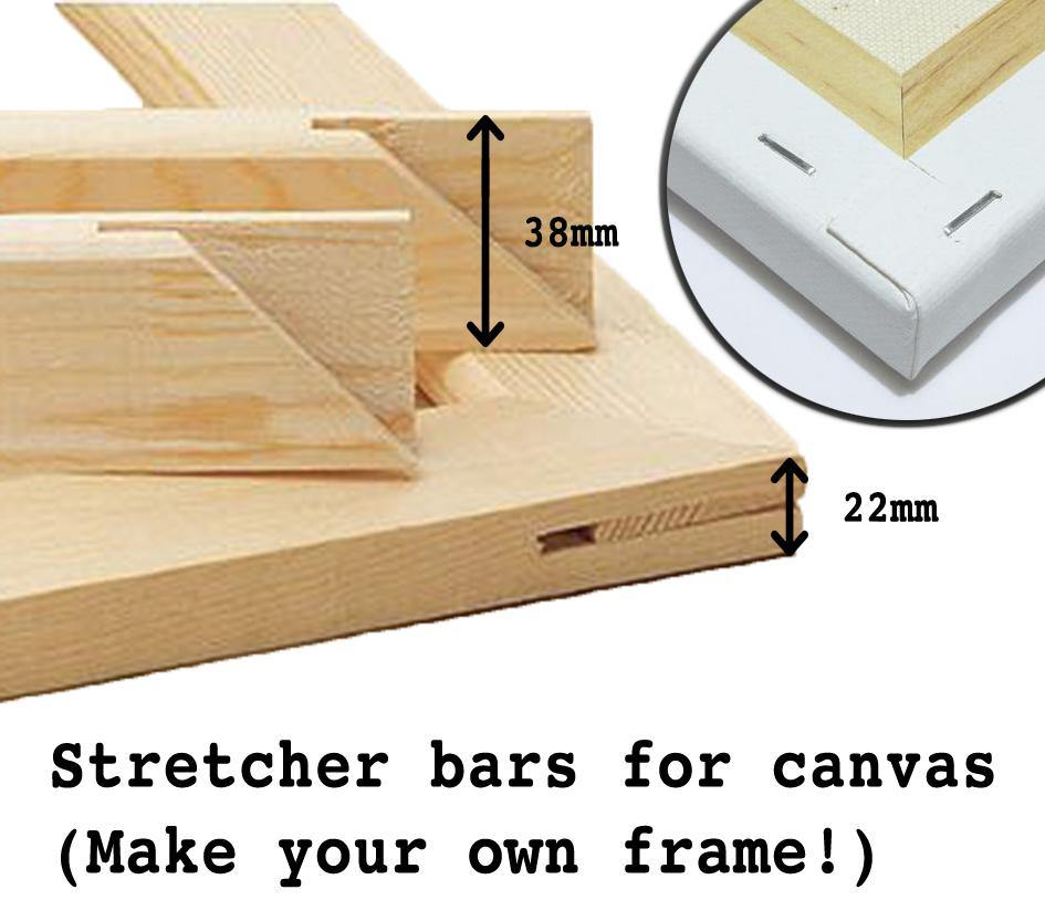 STRETCHER BARS: for Mounting Canvas Prints - The Print Arcade