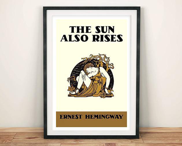 BOOK COVER PRINT: The Sun Also Rises Hemingway Art Poster - The Print Arcade