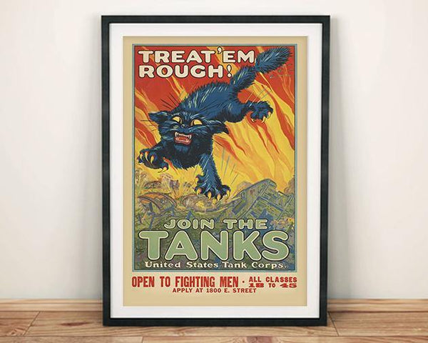 TANK POSTER: Join the Tanks American Army Recruitment Advert - The Print Arcade