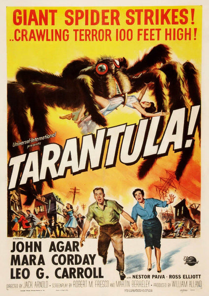 TARANTULA POSTER: Spider B-Movie Poster Print - The Print Arcade