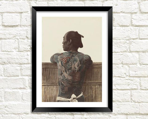 JAPANESE TATTOO: Vintage Photography Print