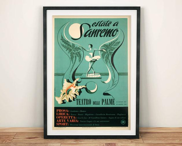 THEATRE POSTER: Vintage Italian Concert Print - The Print Arcade