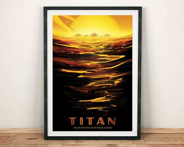 TITAN POSTER: NASA Saturn Moon Space Print - The Print Arcade