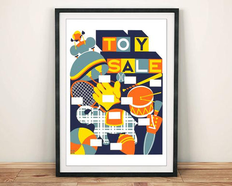 TOY SALE POSTER: Vintage Childrens Advert Print