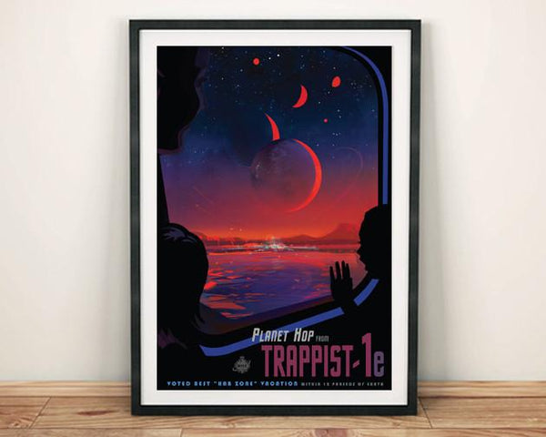 TRAPPIST POSTER: NASA 'Exoplanet' Space Print - The Print Arcade