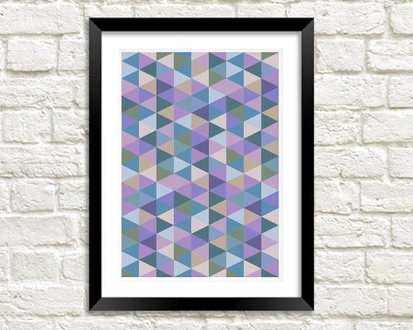 GEOMETRIC ART: Triangles Print - The Print Arcade