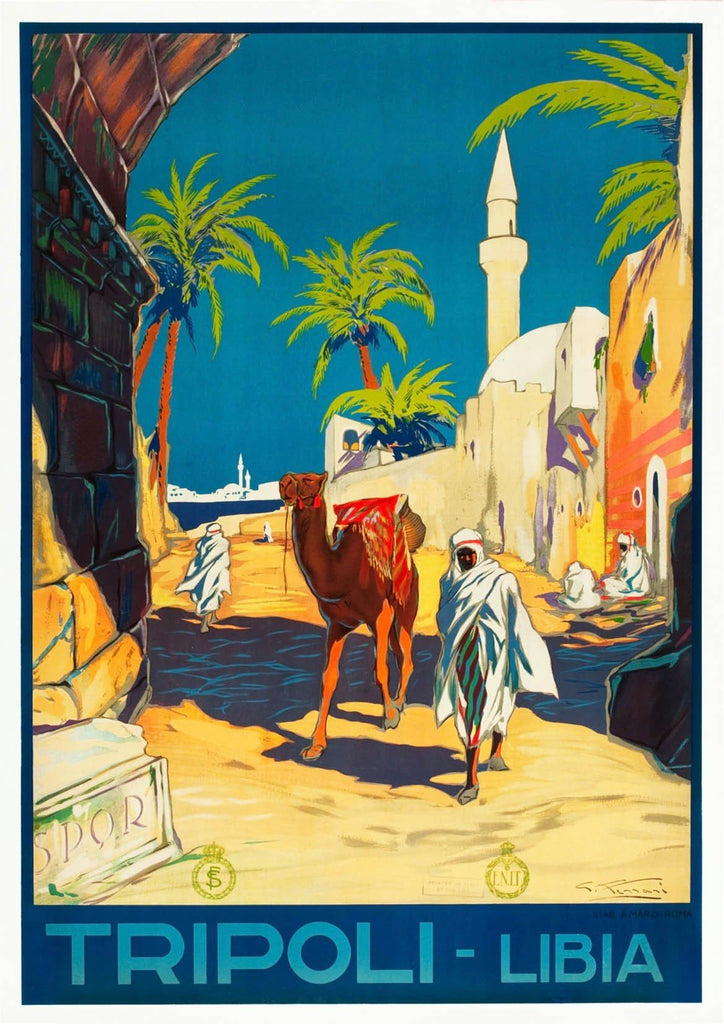 TRIPOLI TOURISM POSTER: Vintage Libya Travel Advert Art Print - The Print Arcade
