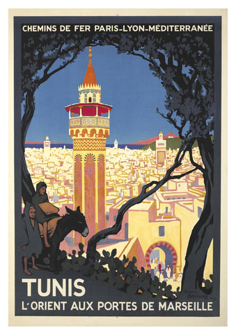 TUNIS TRAVEL POSTER: Vintage Holiday Advert Print