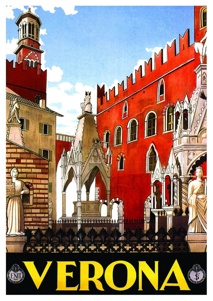 VERNONA TRAVEL POSTER: Vintage Italian City Print - The Print Arcade