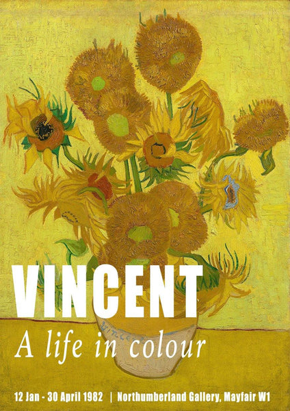 VAN GOGH POSTER: Vincent Sunflowers Gallery Exhibition Print
