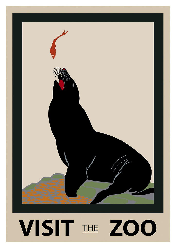 LONDON ZOO POSTER: Visit the Zoo Sea lion Advert