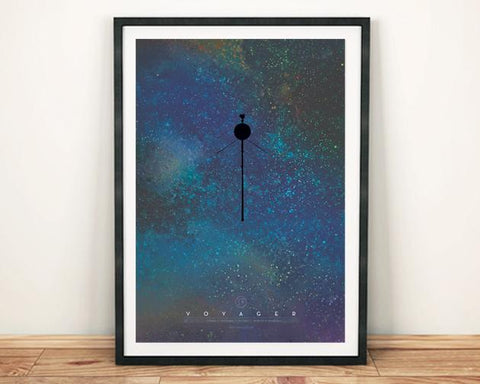NASA VOYAGER PRINT: Spacecraft Poster - The Print Arcade
