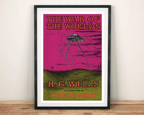 WAR OF THE WORLDS POSTER: Vintage Book Cover Art Print - The Print Arcade