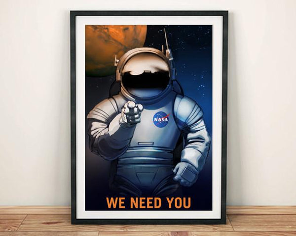 NASA RECRUITMENT POSTER: 'We Need You' Space Print - The Print Arcade