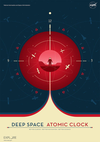 ATOMIC CLOCK POSTERS: NASA JPL Space Prints - The Print Arcade
