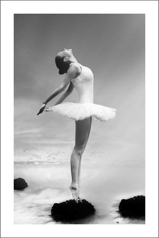 BALLERINA PRINT: Ballet Dancer Photo Art