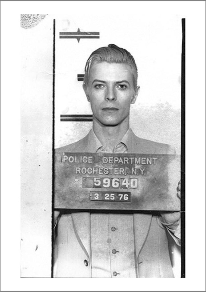 CELEBRITY MUGSHOT: David Bowie Print - The Print Arcade
