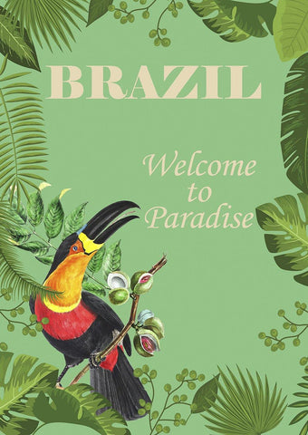BRAZIL POSTER: Welcome to Paradise Toucan Print