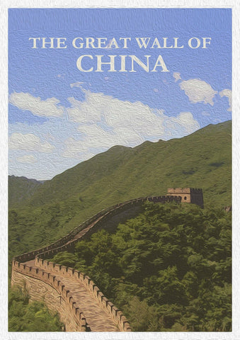 CHINA POSTER: Great Wall of China Print