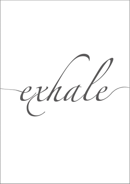 INHALE EXHALE PRINTS: Wall Art Posters - The Print Arcade