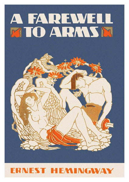 BOOK COVER PRINT: A Farewell to Arms Hemingway Art Poster - The Print Arcade