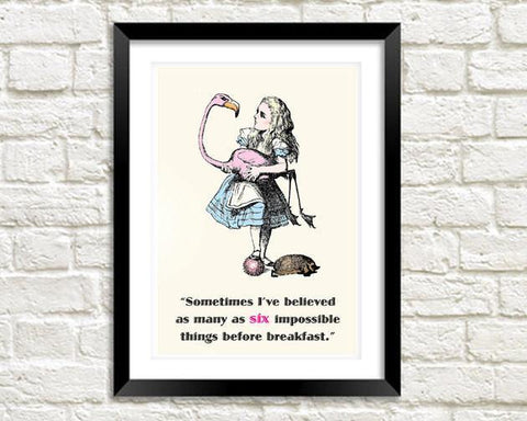 IMPOSSIBLE THINGS PRINT: Vintage Alice in Wonderland Art - The Print Arcade