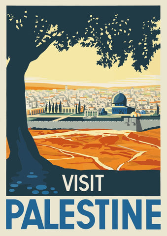 VISIT PALESTINE POSTER: Middle East Travel Print - The Print Arcade