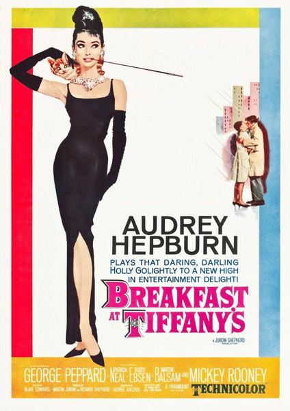 BREAKFAST AT TIFFANY'S: Classic Hollywood Movie Poster Art Reprint - The Print Arcade